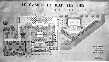 Le casino reconstruit. Plan.