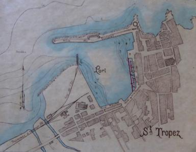 Plan du port de Saint-Tropez en 1906.