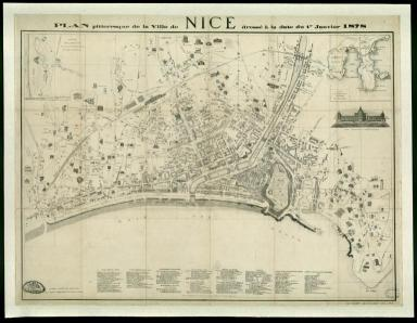 Carte Nice pittoresque - 1878