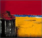Plage A. Huile sur toile, 1984.