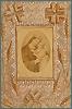 Vierge à l'Enfant. Travaux d'aiguilles, ltihographie , XIXe siècle.