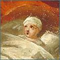 Demande de guérison d'un enfant. Huile sur toile, 1767.