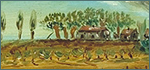 Accident de Paul Borfiga. Huile sur carton, 1906, Albert Clavel (signé).