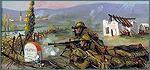Bataille de Pertin. Huile sur toile, 1940, par Jean Fauchery (signé).