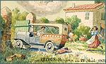 Accident de voiture. Aquarelle, gouache, encre sur papier, 1927.
